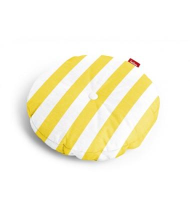 Coussin CIRCLE PILLOW rayé jaune
