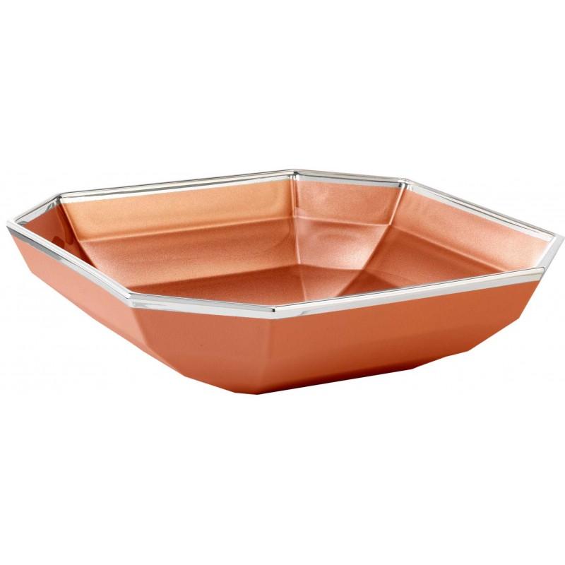 Assiette plate OTTAGONO orange