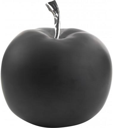 FIGURINE Pomme en résine noir