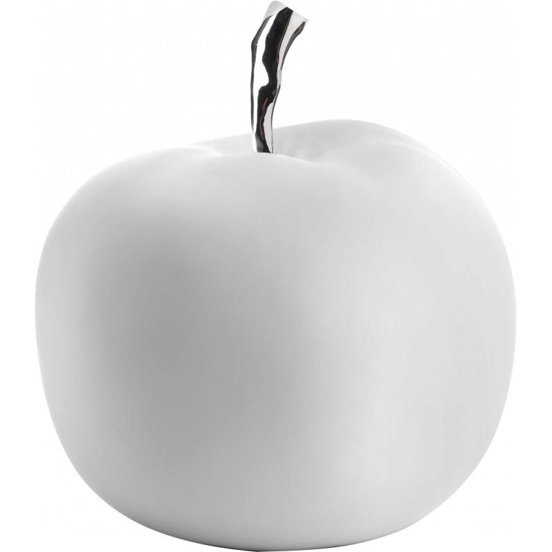 FIGURINE Pomme en résine blanc