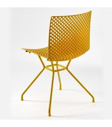 Chaise FERRIS 4 pieds métal verni coloré jaune_1