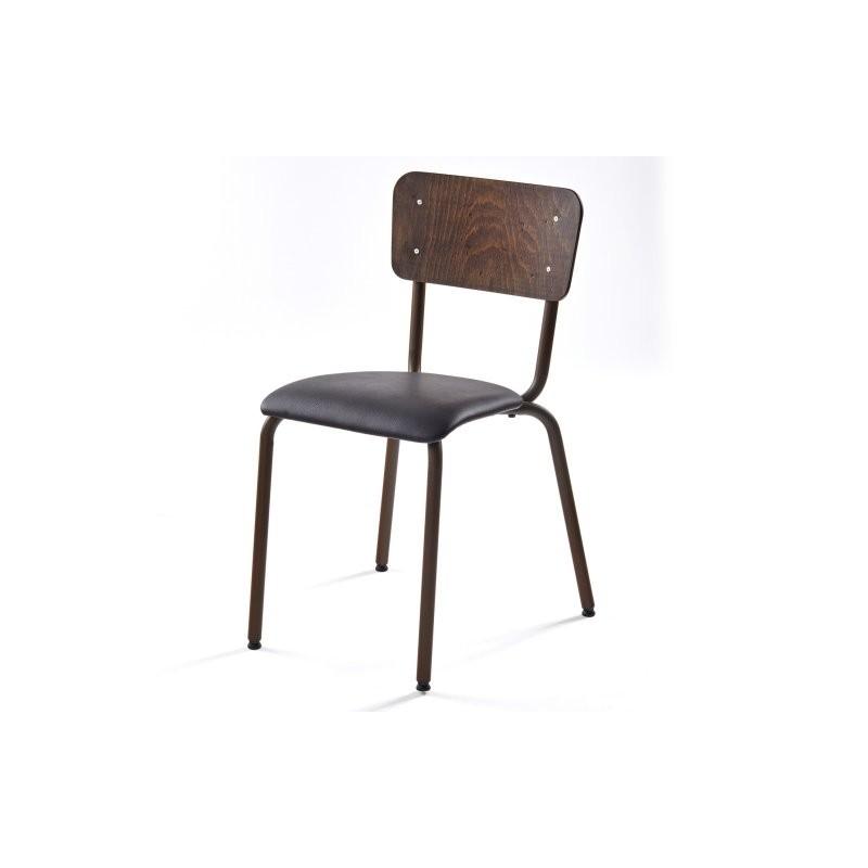 Chaise ALEX structure acier laqué rouillé_3
