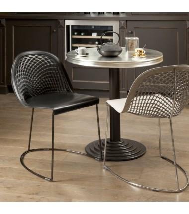 Chaise cuir véritable GILY