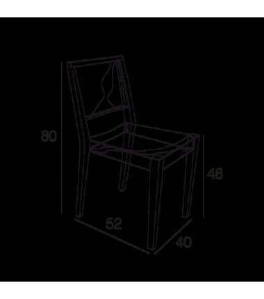 Chaise bois et polycarbonate DJUDE transparent structure bois de frêne