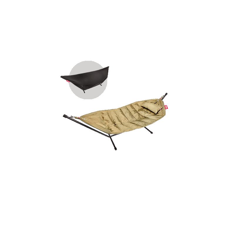 DeLuxe HEADDEMOCK HAMAC avec structure + coussin + housse sable