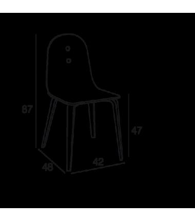 Chaise bois HELINA Chêne naturel
