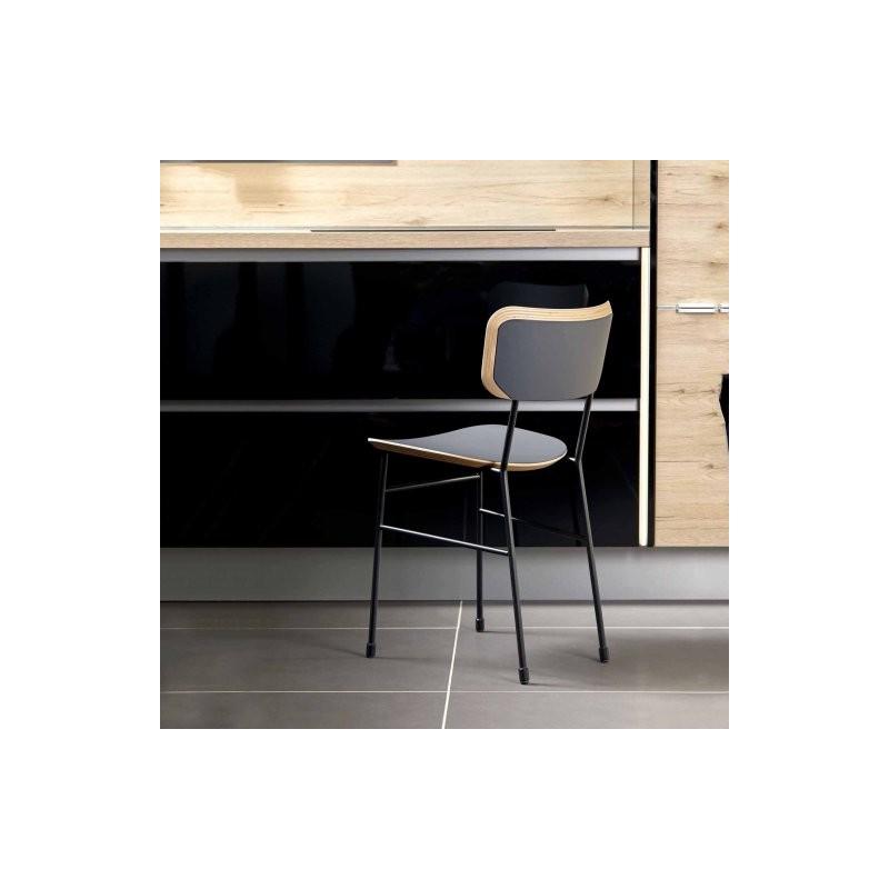 Chaise acier - bois MAHLER