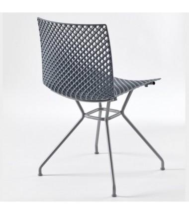 Chaise FERRIS 4 pieds métal verni_2