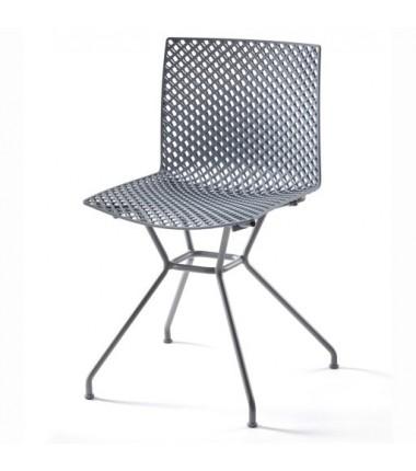 Chaise FERRIS 4 pieds métal verni