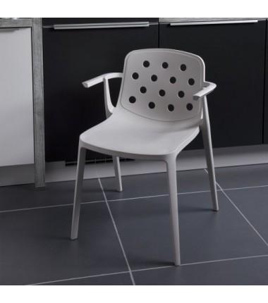 Chaise avec accoudoirs en polymère ADELE