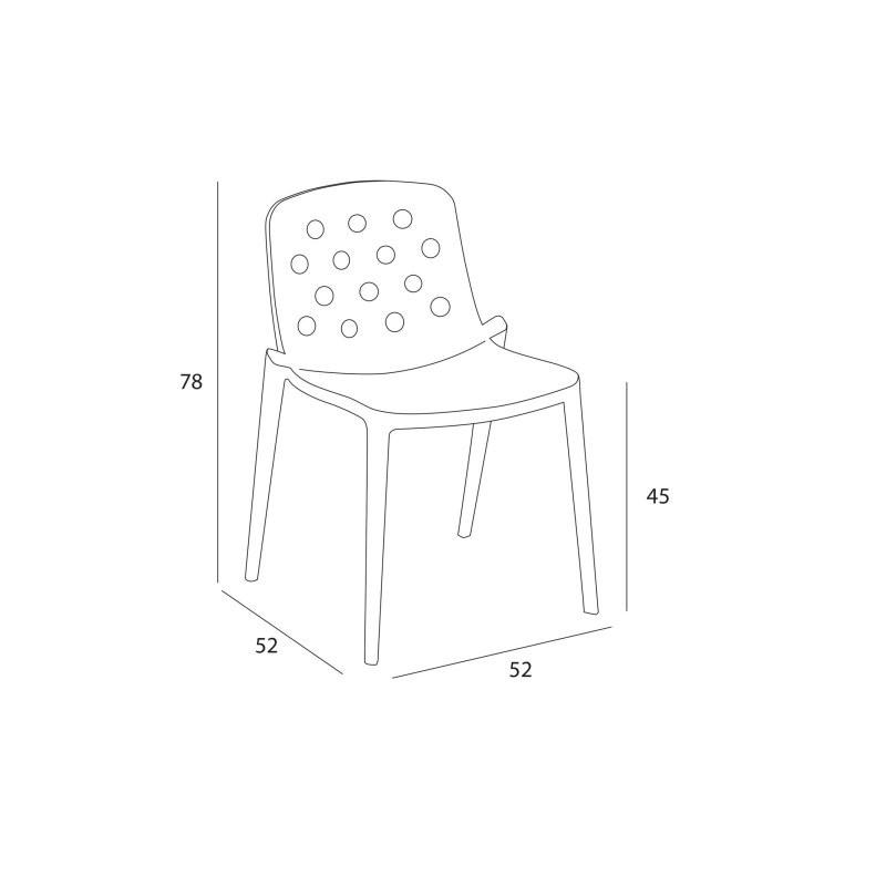 Chaise en polymère ADELE