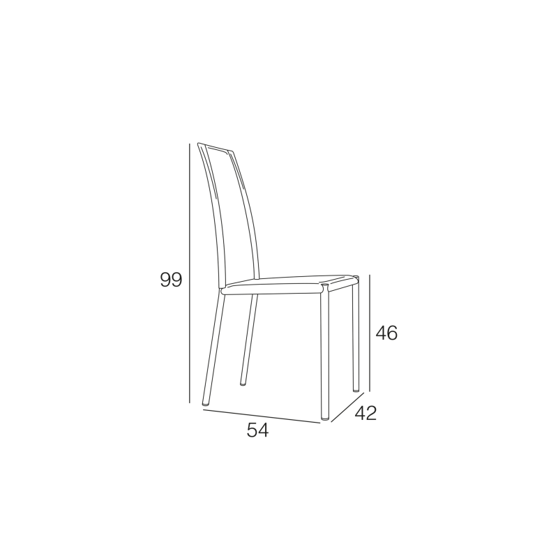 Chaise en cuir 'R' ASHLEY