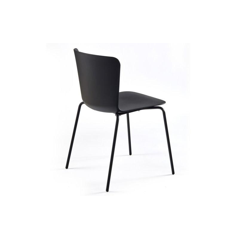 Chaise polypropylène CALLAS noire2