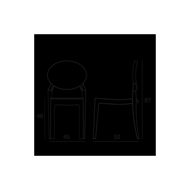 Chaise polycarbonate CASPER transparent