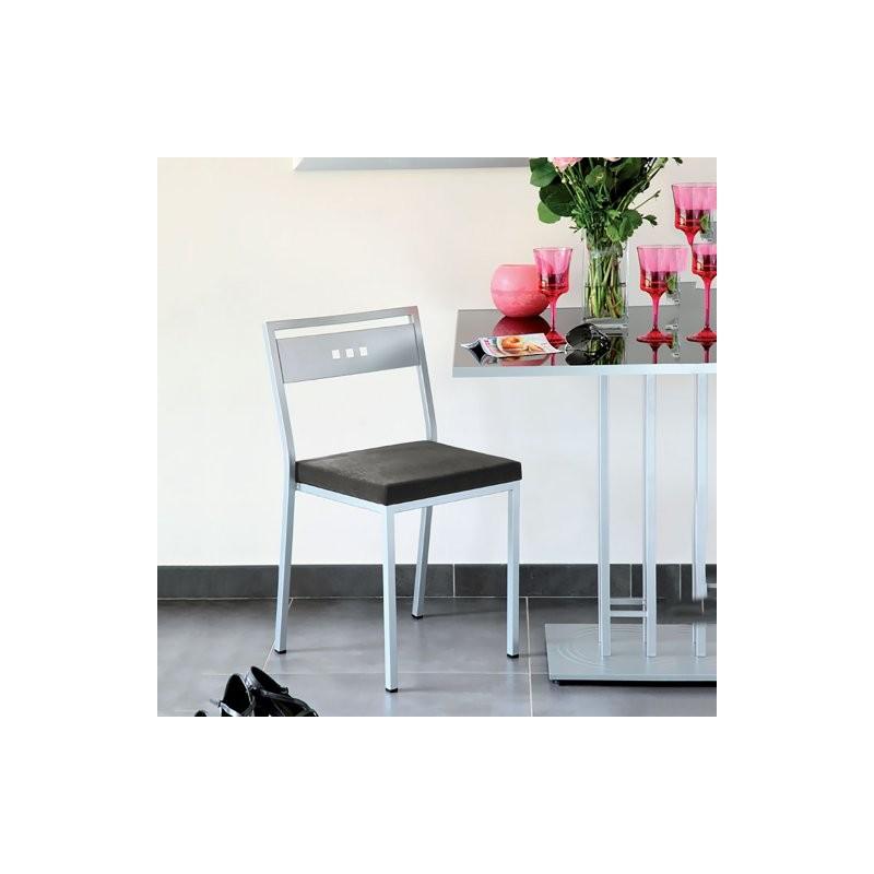 Chaise tissu carabu CUBIC gris1