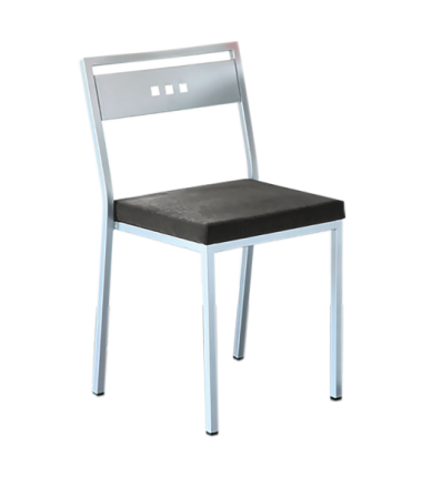 Chaise tissu carabu CUBIC gris