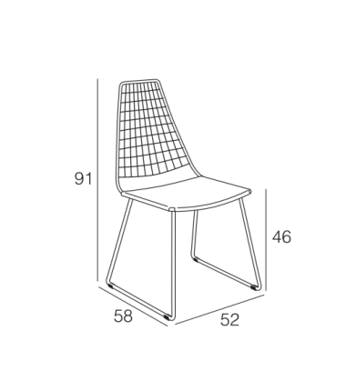 Chaise POPPY Noir