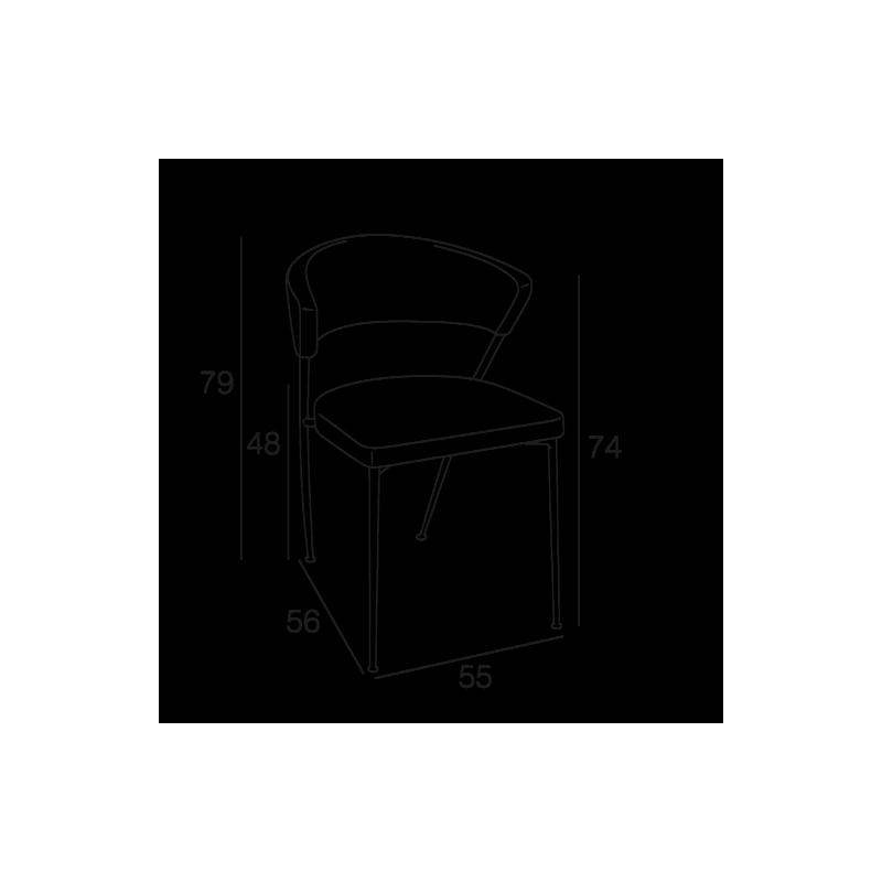 Chaise PRISCA Marron