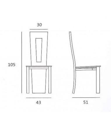 Chaise en cuir R RETRO