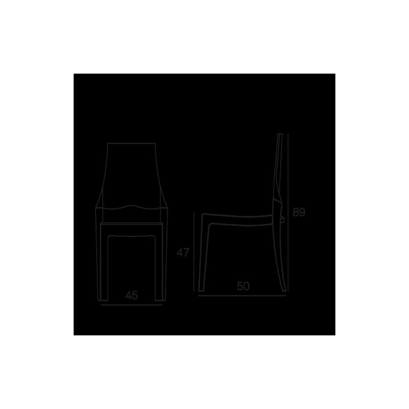 Chaise SCALA Transparent fumé