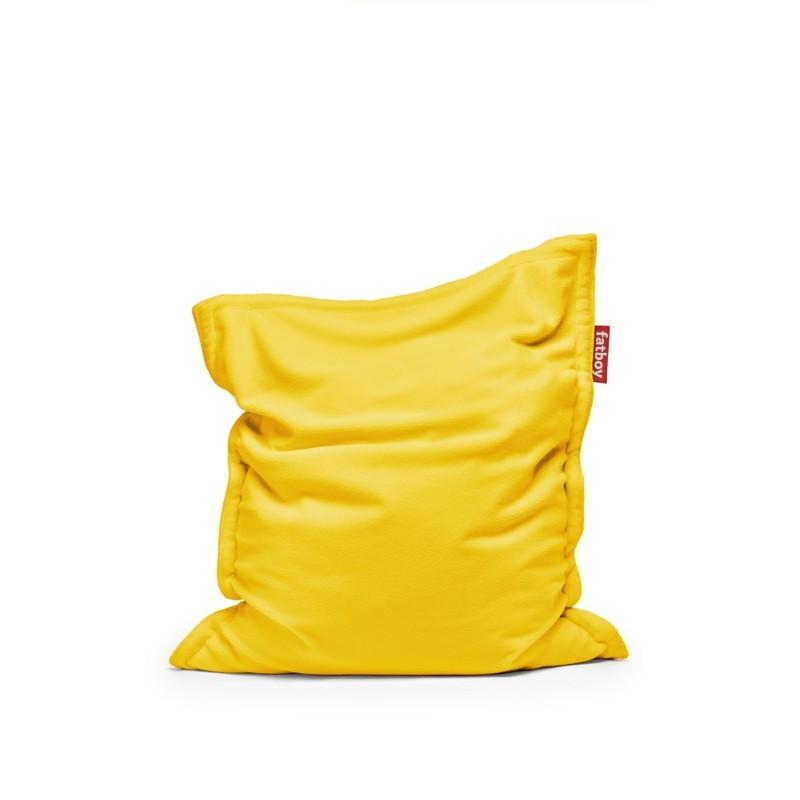 Pouf ORIGINAL SLIM TEDDY jaune