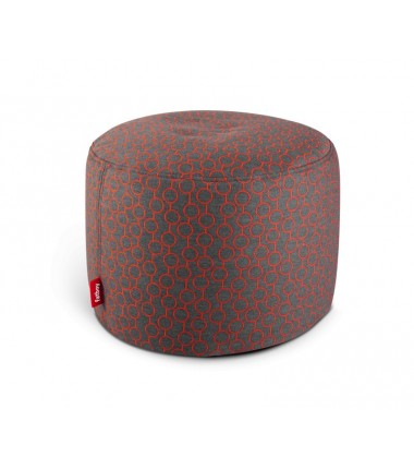 Pouf POINT DELUXE circle rouge
