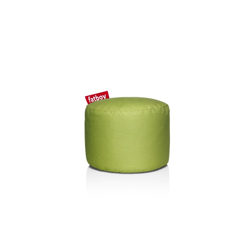 Pouf POINT STONEWASHED vert citron