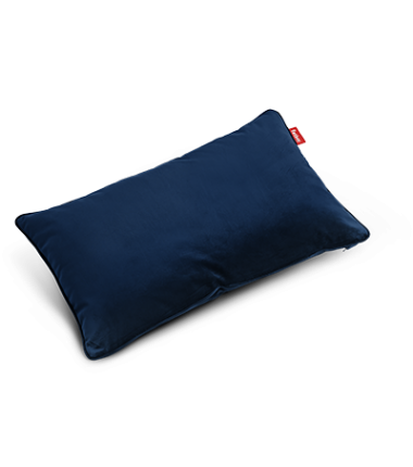Coussin King pillow Velvet bleu