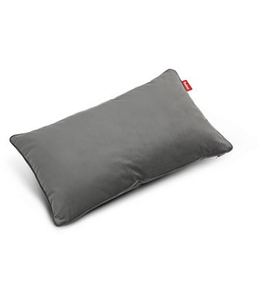 Coussin King pillow Velvet gris