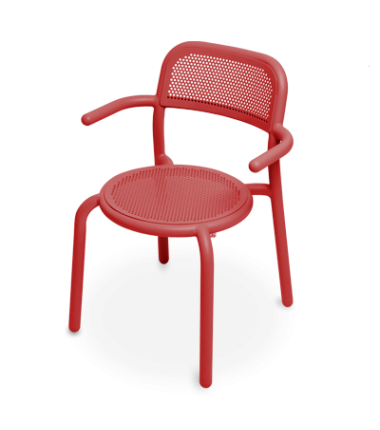 Chaise TONÍ ARMCHAIR rouge