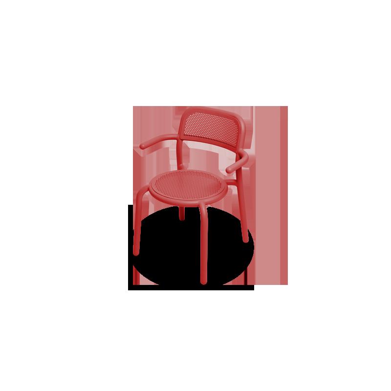 Chaise TONÍ ARMCHAIR rouge