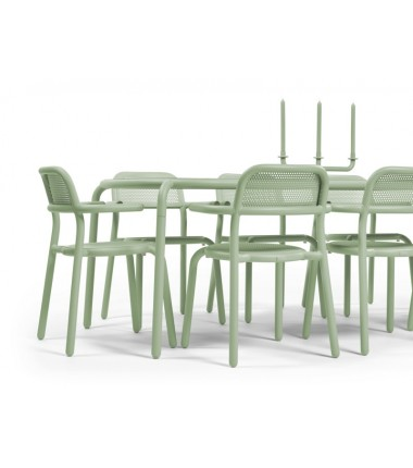 """Chaise TONÍ ARMCHAIR vert """""""