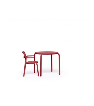 Table TONÍ BISTREAU rouge 2